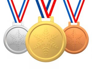 Winter games medals