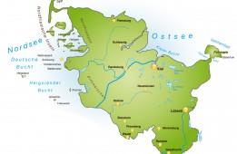 Bundesland Schleswig-Holstein als Übersicht